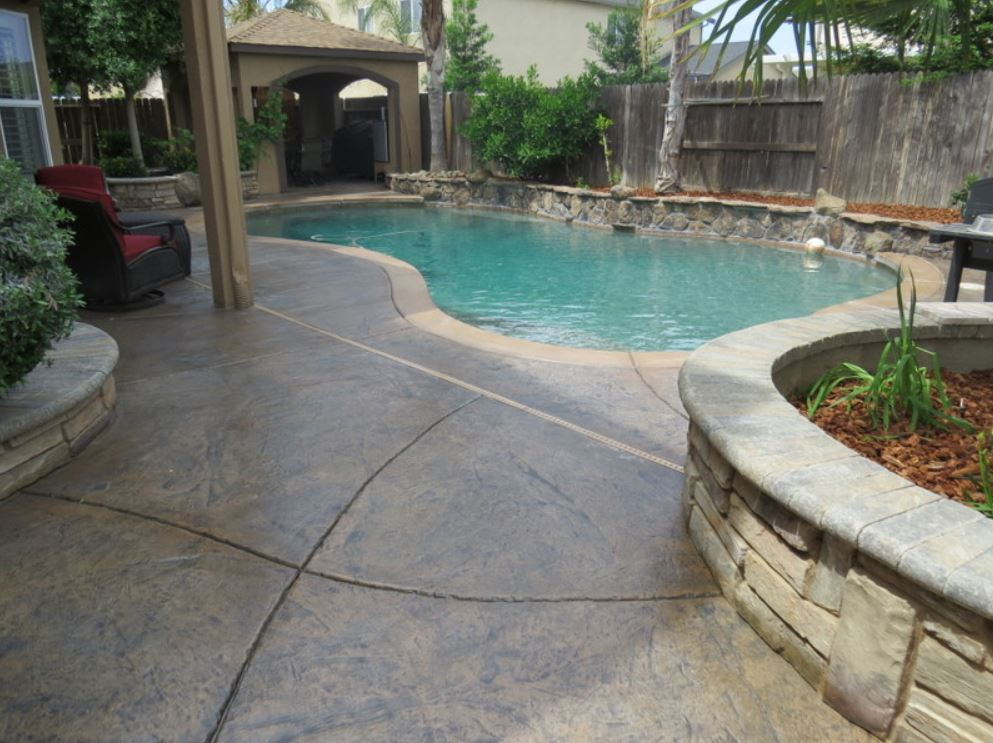 The photo shows the finished concrete work in Encinitas.
