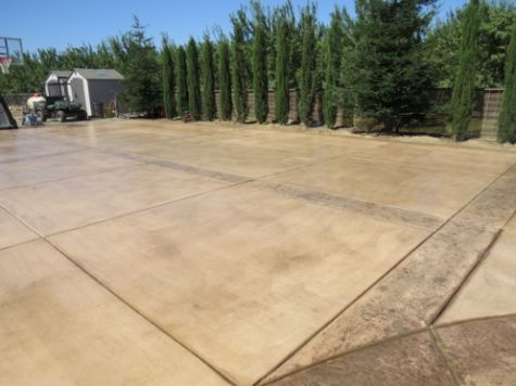 this image shows the concrete driveway in encinitas, ca