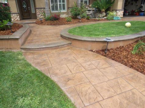 this image shows concrete patios in encinitas california