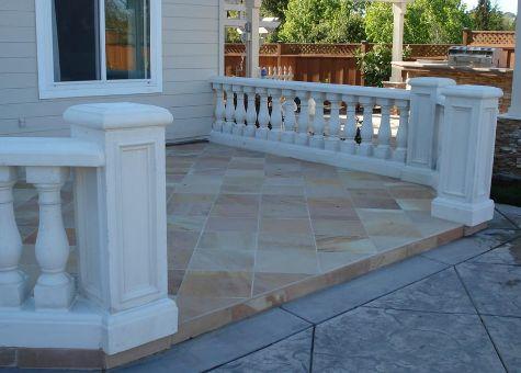 this picture shows concrete patios in encinitas