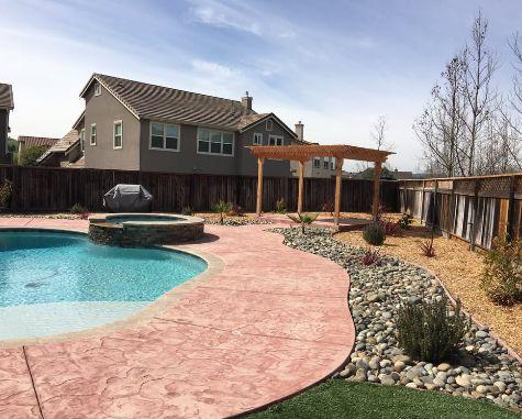 this image shows pool deck encinitas california