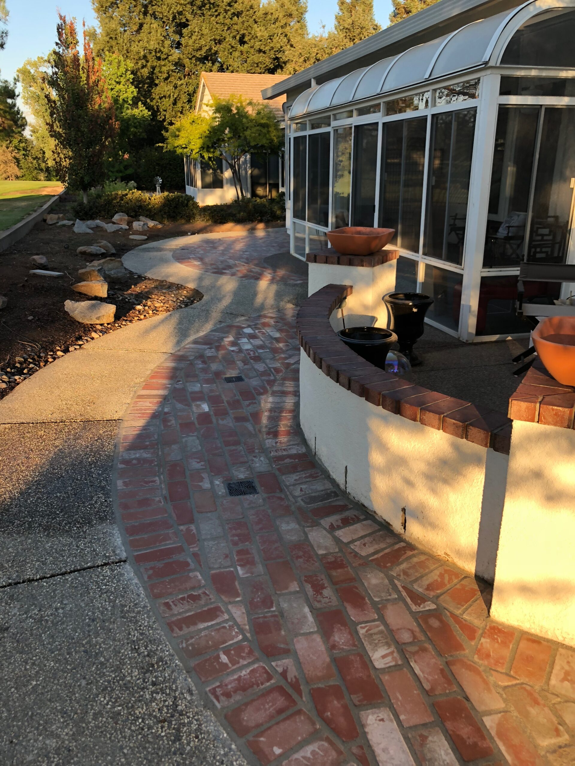 An image of finished concrete work in Encinitas.