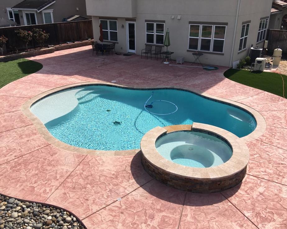 this is an image of pool deck in Encinitas